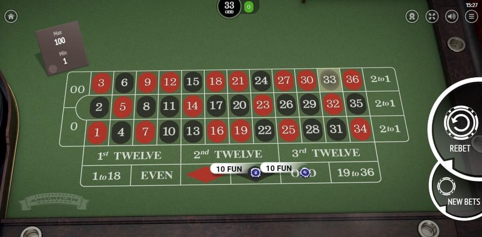 best online roulette american type