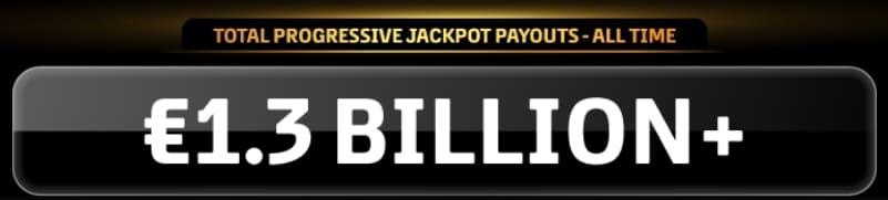 progressive slots total winnings